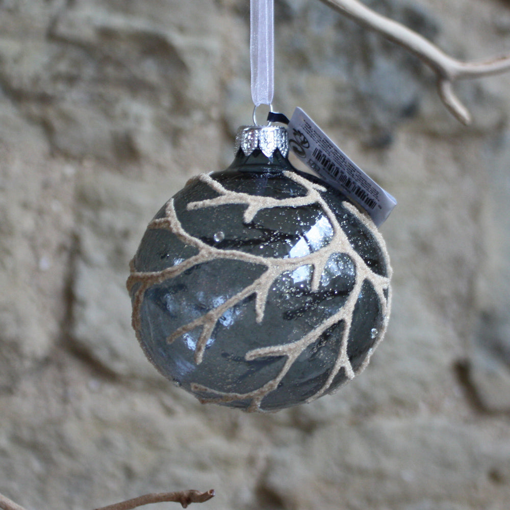 Glass bauble with branch