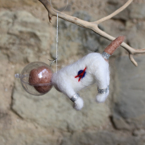 Space Dog Hanging Felt Decoration
