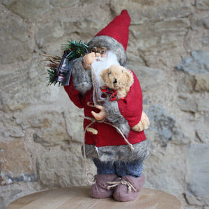 Plush Santa with Teddy