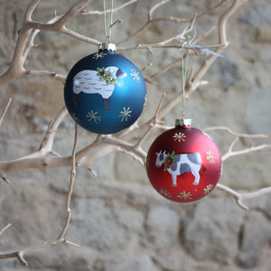 Farmyard Animal Glass Bauble