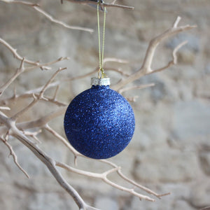 Blue Glitter Bauble