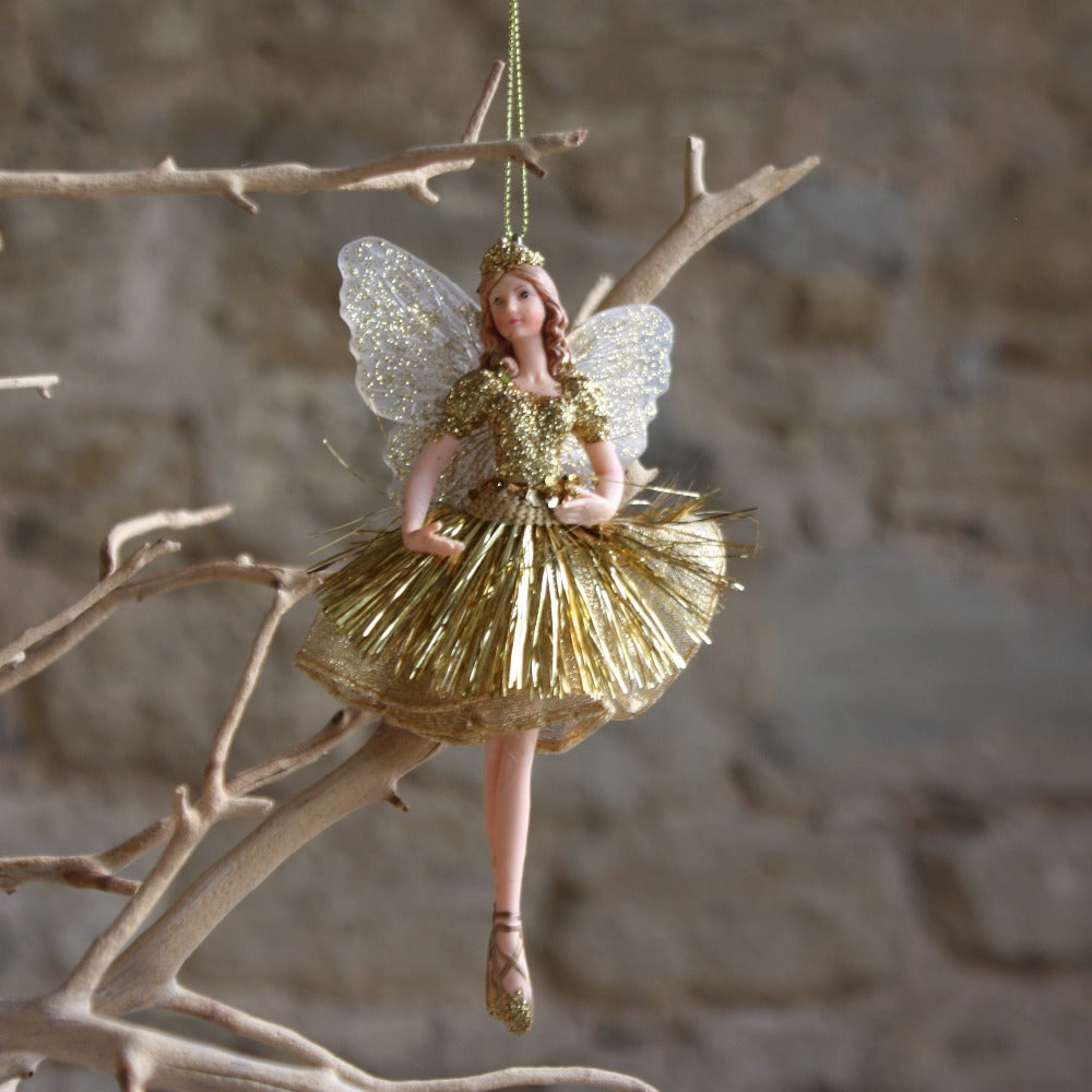 Gold Fabric/Resin Princess Fairy,