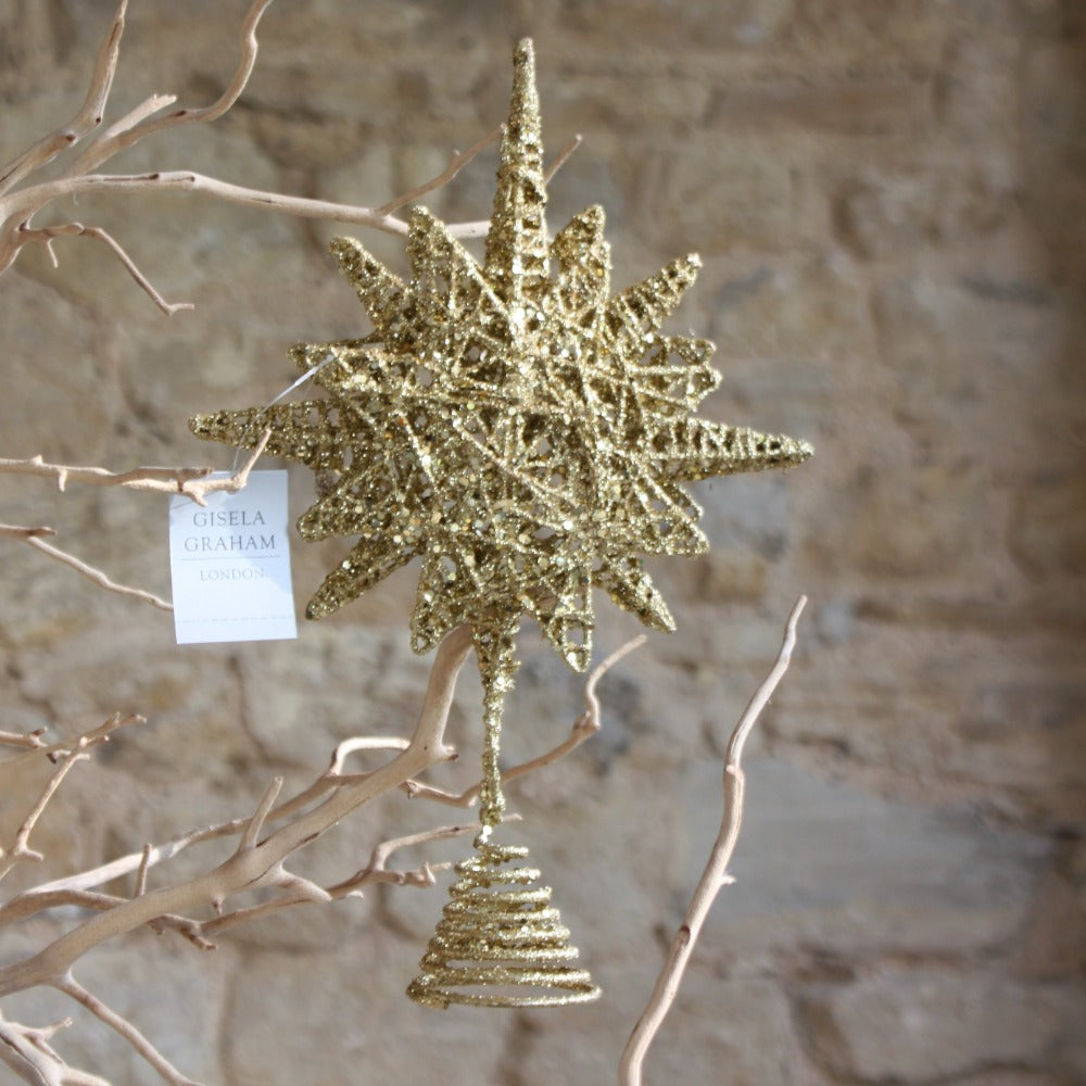 Gold Wire Bethlehem Star Tree Topper