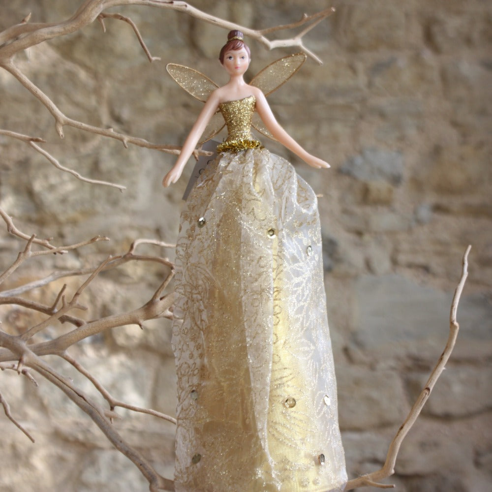Gold Tree Top Fairy