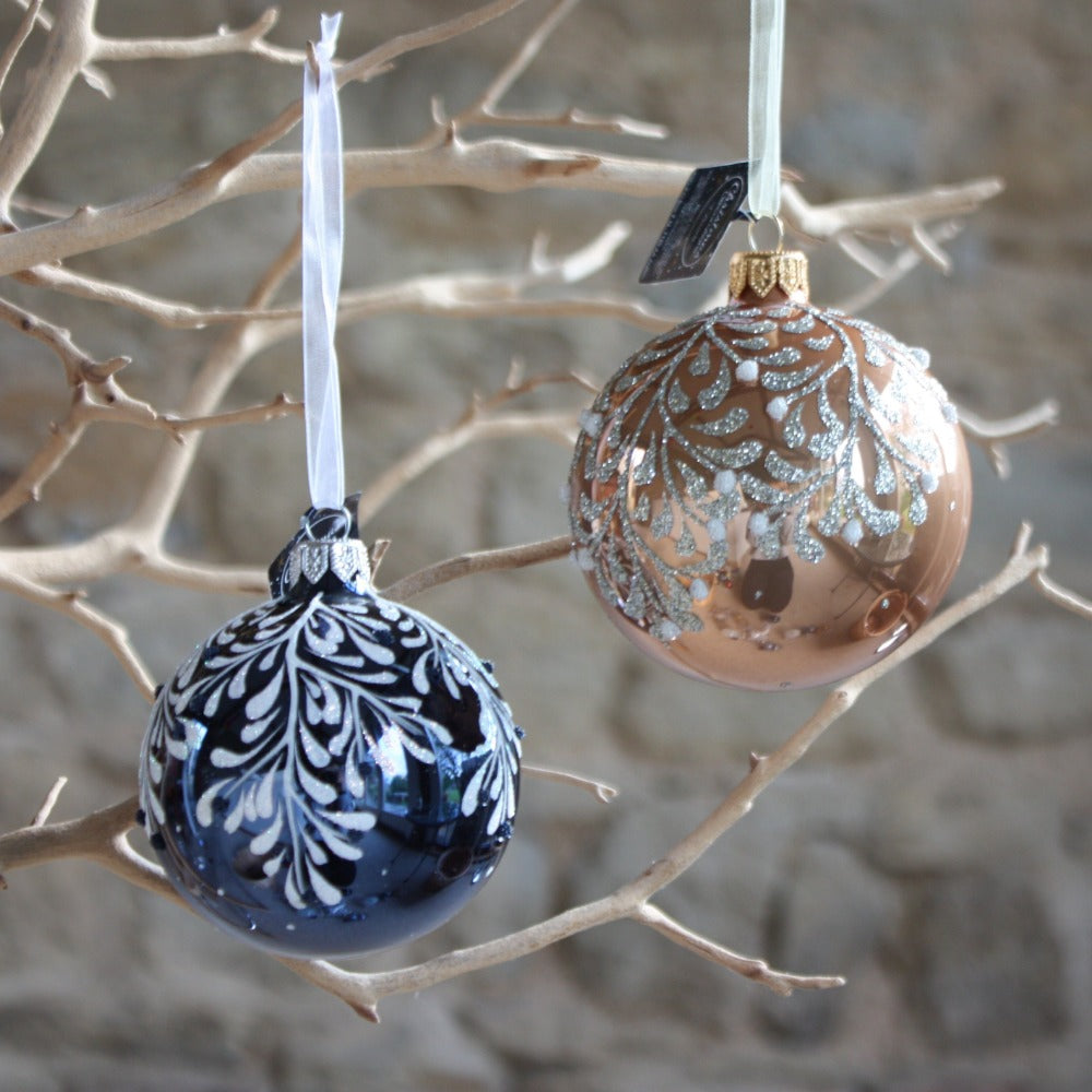 Glass Bauble with Branch Design