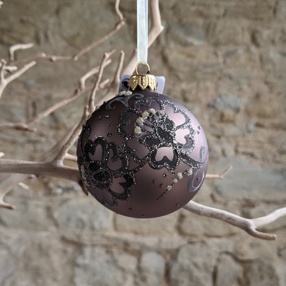 Cashmere Brown Flower bauble