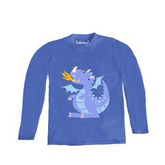 Kids Purple Dragon Long Sleeve T Shirt