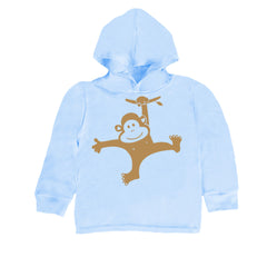 Baby-Toddler Monkey Swinging Hoodie T Shirt