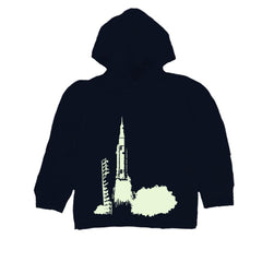 Kids Glow In The Dark Rocket Launch  Hoodie T Shirt