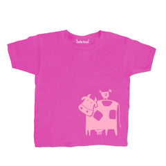 Kids Cow And Chicken T Shirt