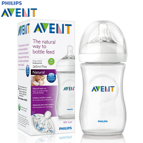 Avent Natural Feeding Bottle 260ml (large) - TWO pack