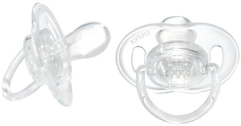 Avent BPA-Free Soothers 0-6 months (2 pack)- Transclucent