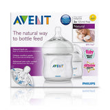 Avent Natural Feeding Bottle 125ml (small) - TWO pack
