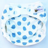 Baby Beehinds PUL Cloth Nappy Cover in Blue Spotty Botty (size: SMALL ~4-8kg)