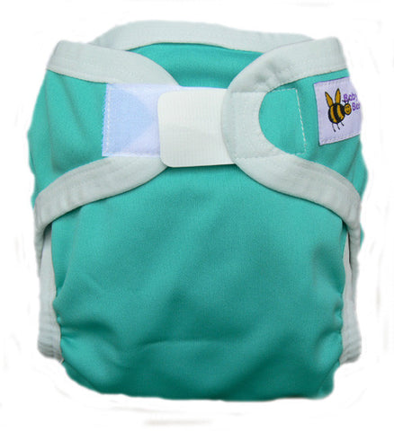 Baby Beehinds PUL Cloth Nappy Cover in Marine Green (size: SMALL ~4-8kg)