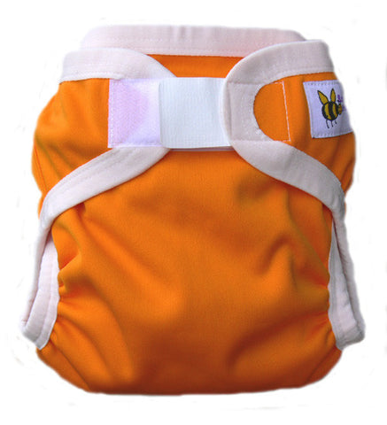 Baby Beehinds PUL Cloth Nappy Cover in Orange Burst (size: SMALL ~4-8kg)