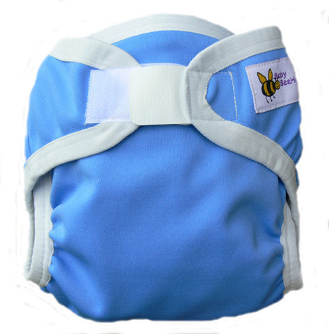 Baby Beehinds PUL Cloth Nappy Cover in Purest Blue (size: SMALL ~4-8kg)