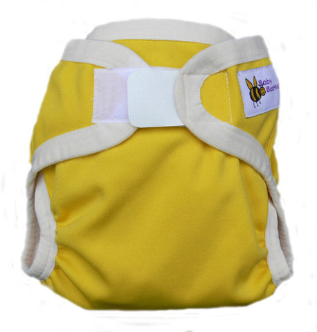 Baby Beehinds PUL Cloth Nappy Cover in Sunshine (size: SMALL ~4-8kg)