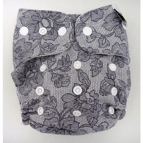 Designer Bums Reusable Nappy One-Size-Fits-Most (OSFM) in 'FANCY PANTS'