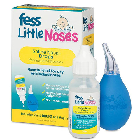 Fess Little Noses Saline Nasal Drops with Aspirator