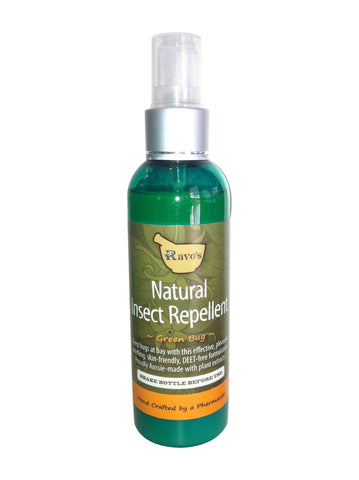 Ravo's Products 'Green Bug' All-Natural Deet-Free Insect Repellent  100ml