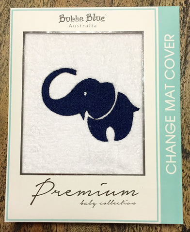 "Bubba Blue Premium Baby Collection Change Mat Cover ""Boy Savannah"" in Navy / Grey"