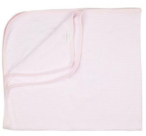 Purebaby Bunny Rug in Pale Pink Stripe