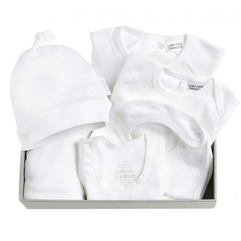 Purebaby Newborn Hospital Pack in White 000