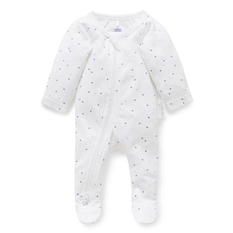 Purebaby Essentials Newborn Gift Set Pale Blue Spot in 0000
