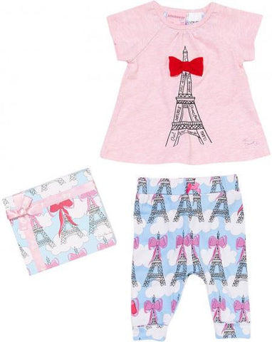 Peter Alexander Baby Girls Paris Pyjama Set - size 000 (0-3 months)