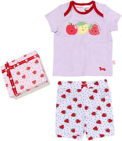 Peter Alexander Baby Girls Strawberry Pyjama Set - size 000 (0-3 months)