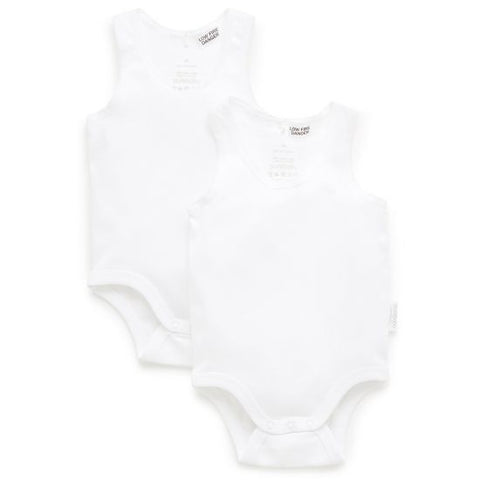 Purebaby Ribbed Body Suit 2 Pack