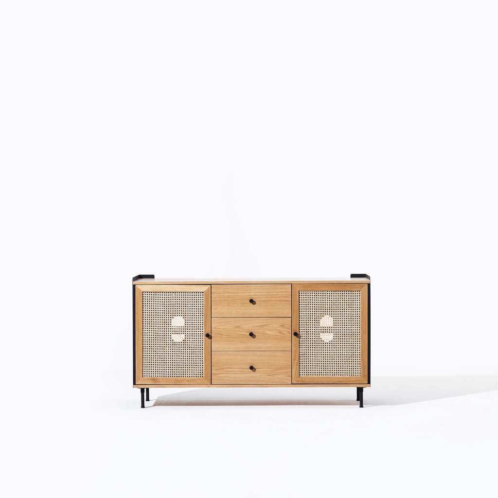 Wrap Wicker Drawer Console