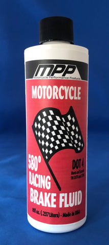 580 Motorcycle Racing Brake Fluid, 8 oz, Quantity 6