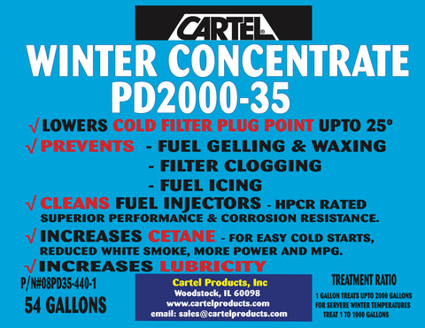 Winter Diesel Concentrate, 54 Gallon Drum