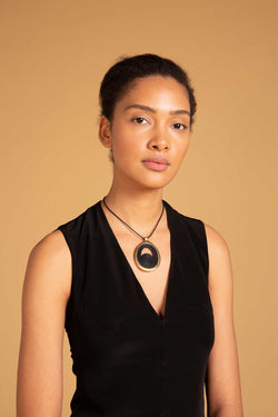 Bongani Necklace Black