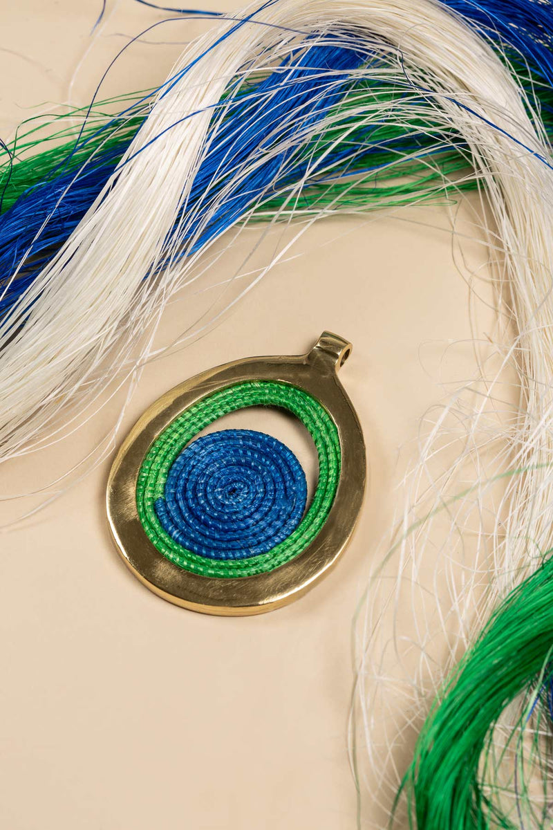 Bongani Necklace Green-Blue