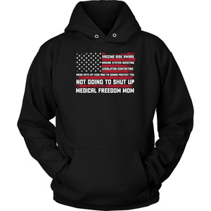 Medical Freedom Mom American Flag - Hoodie