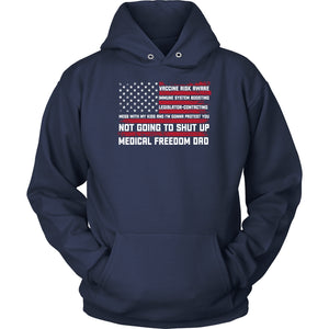 Medical Freedom Dad American Flag - Hoodie