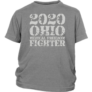 2020 Ohio Medical Freedom Fighter Grey - Youth Tee