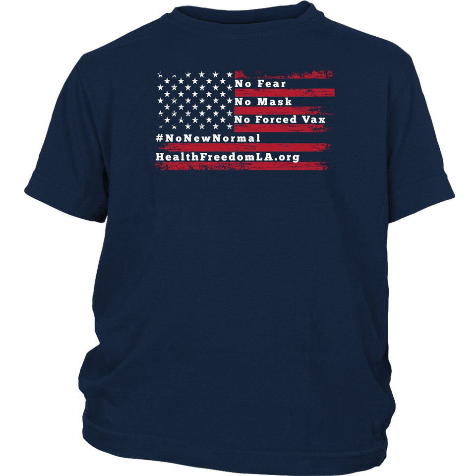 HFLA - American Flag No Fear - Youth Tee