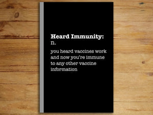 Heard Immunity Notebook/Journal