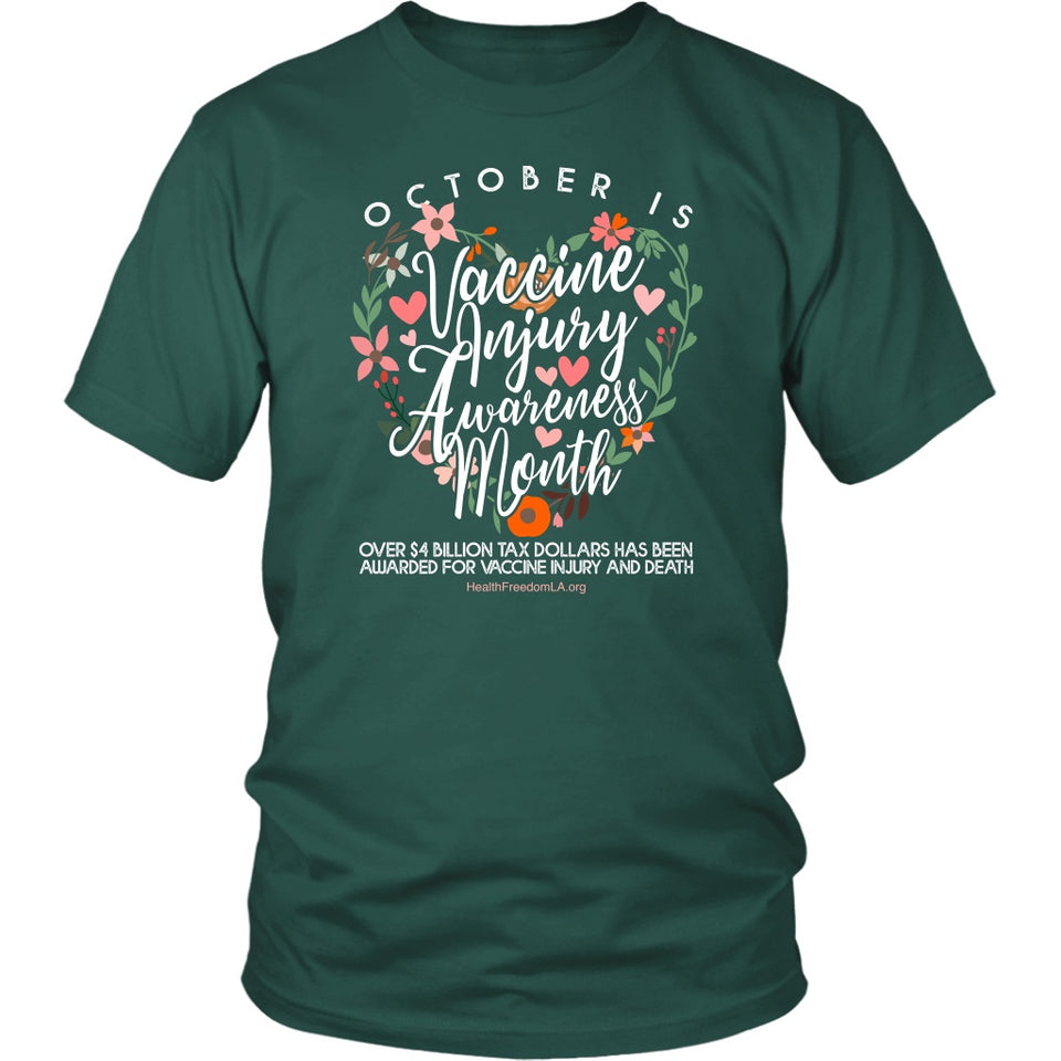 HFLA - October is Vaccine Injury Awareness Month - Unisex Tee