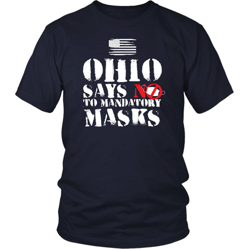 Ohio Says NO to Mandatory Masks - Unisex Tee