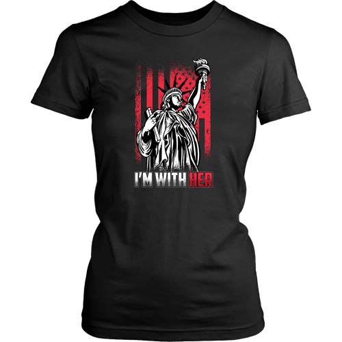 I'm With Her (Statue of Liberty) - Women's Tee