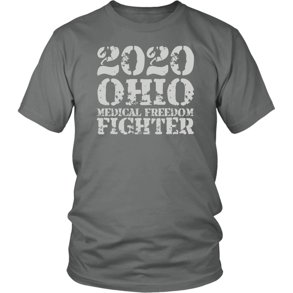 2020 Ohio Medical Freedom Fighter Grey - Unisex Tee