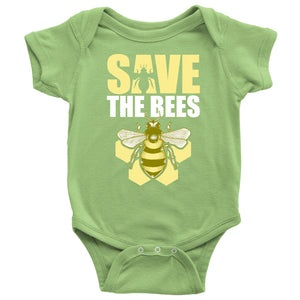 Save the Bees (Honeycomb) - Baby Onesie