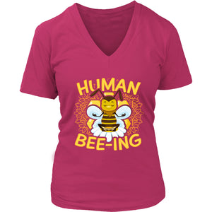 Human Bee-ing - Women's V-Neck Tee