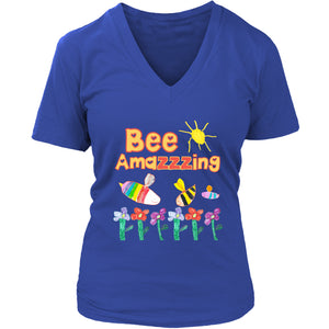 Bee Amazzzing - Women's V-Neck Tee