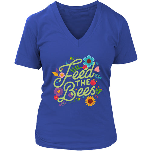 Feed the Bees - Women's V-Neck Tee